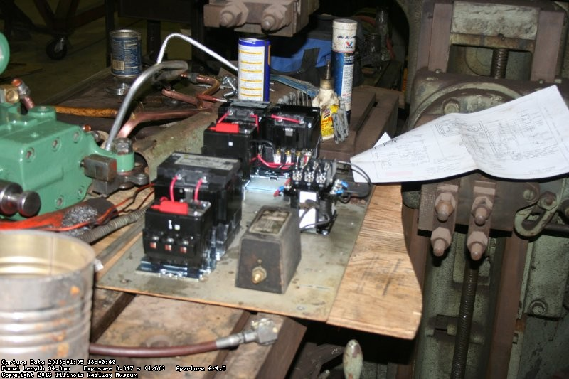 Control electrics being assembled for planer