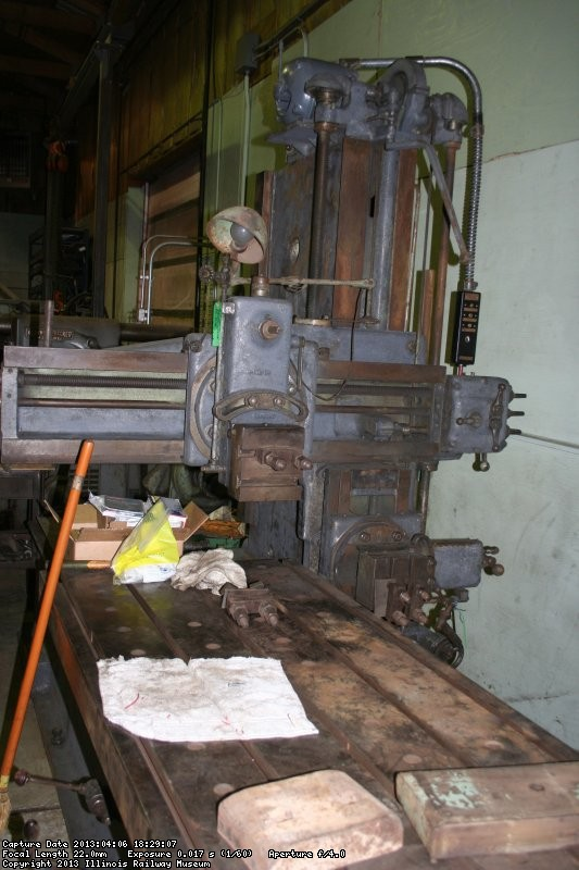 Work progresses on the planer