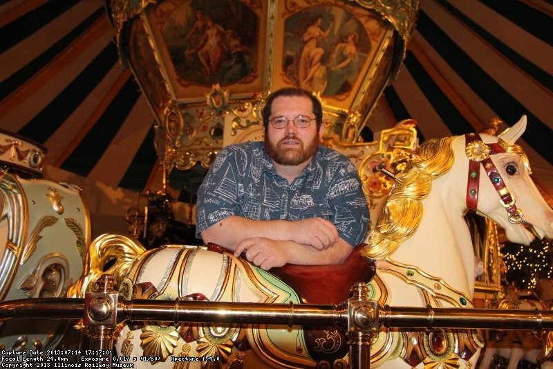 Dave on the carousel