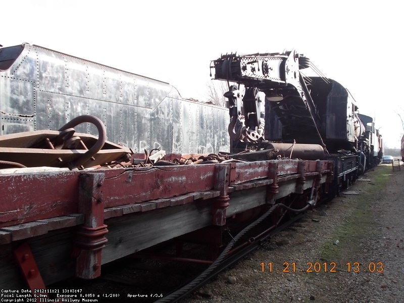 View of steam crane and flat car       11-21-12