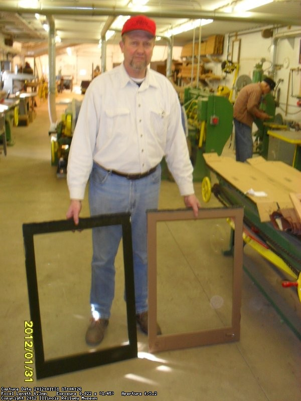 Woodshop productions!  Here showing 2 finished windows made for Glen Springs Feb 2012