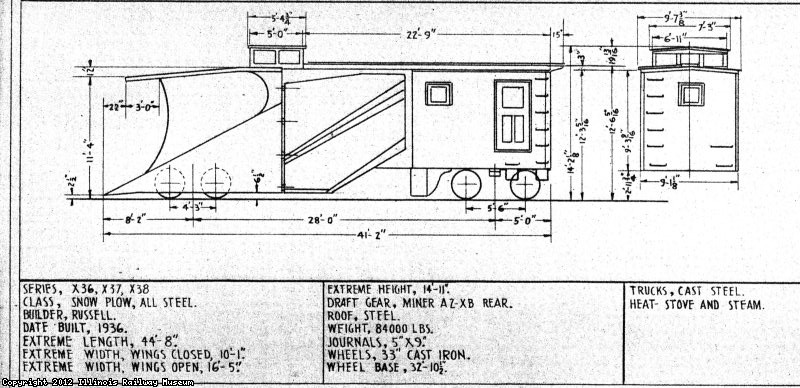 CGW plow X-38, Diagram Sheet