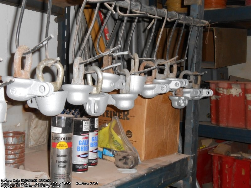 Reconditioned pulloff hangers.