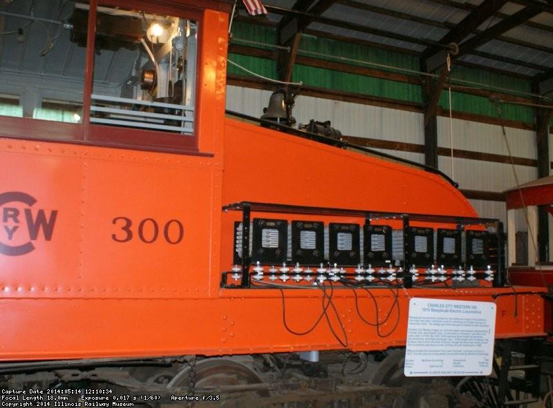Fresh orange paint on the 300