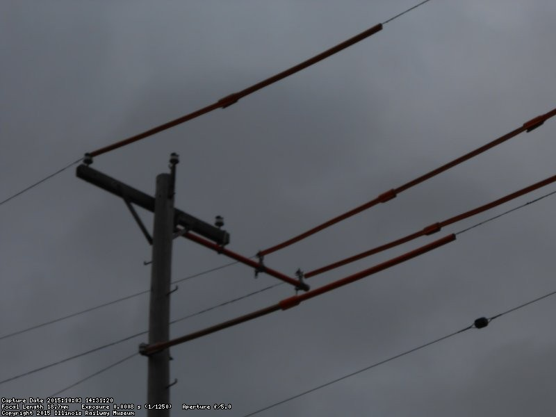 Primary wires spread to make room for the new pole.  024