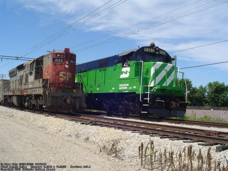 SP 1518 & BN 5383  07-21-07