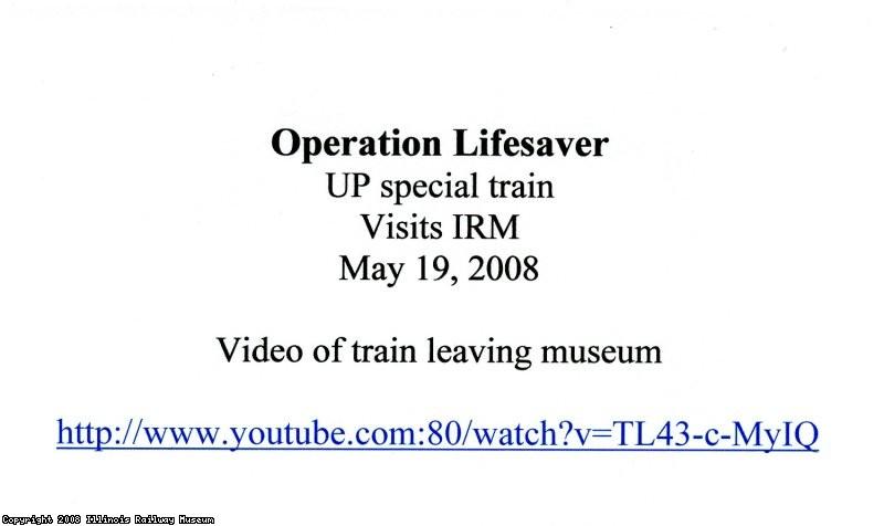 IRM Lifesaver visit 2008 logon