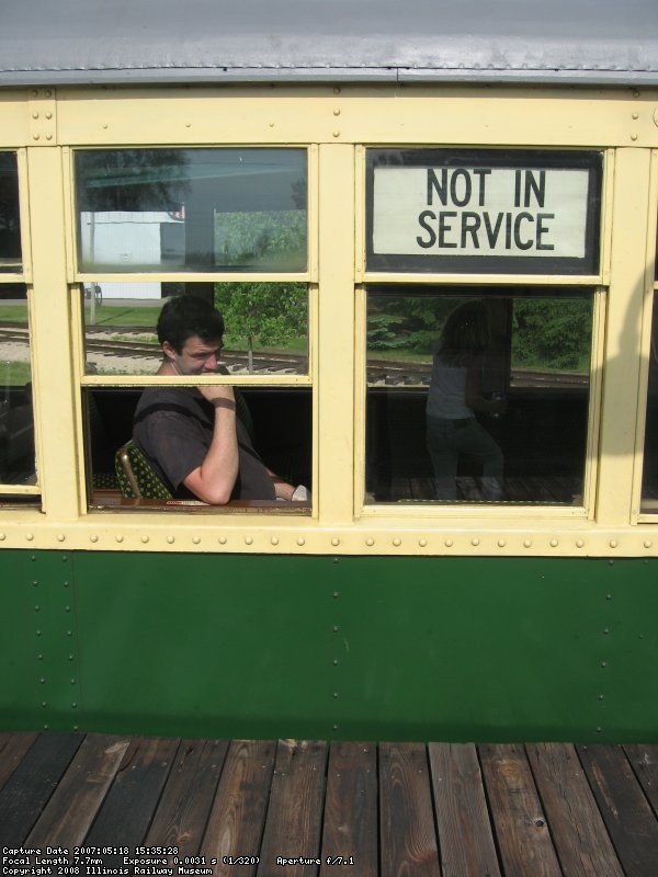 "Riding the trains ""Not in Service"" are always the most fun"