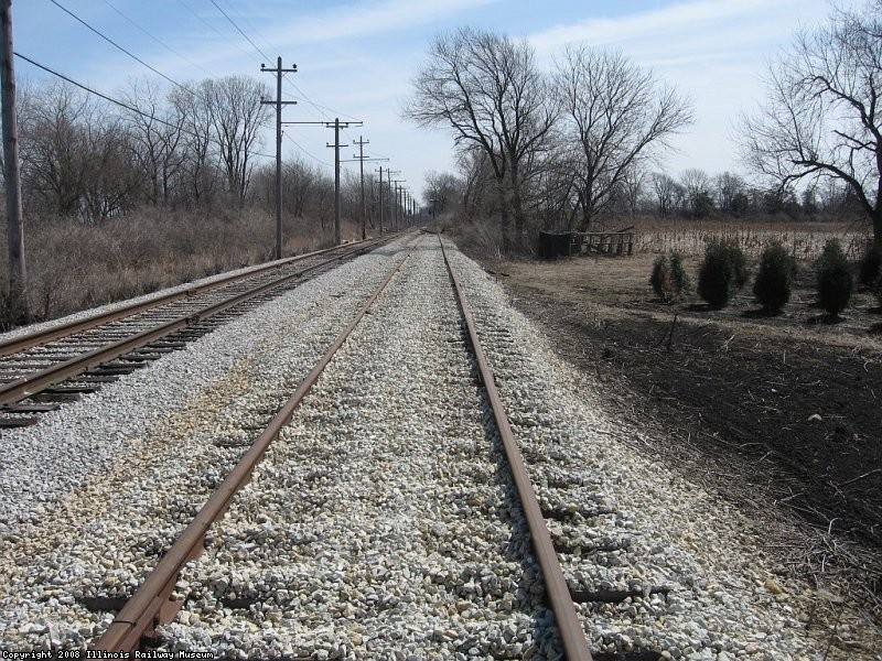 Four Mile siding looking east