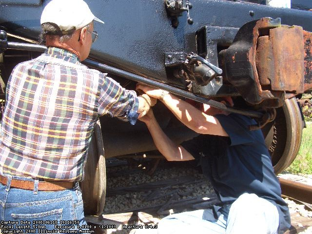 06.18.08 - THE BELLCRANK IS BEING ATTACHED TO THE HANDBRAKE ROD.
