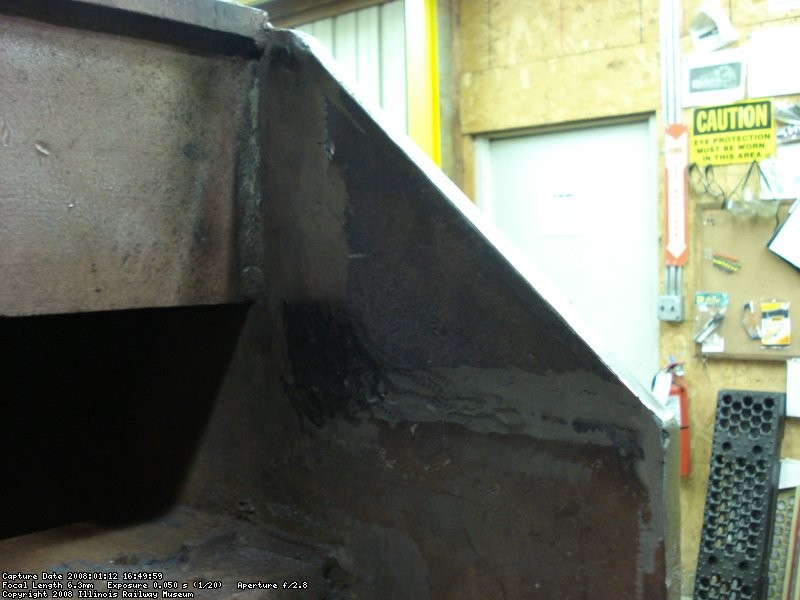 Backdating the front end, welded corners back in