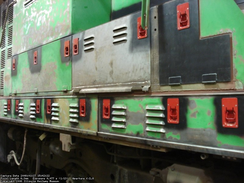 Engineer's side showing reinstalled latches