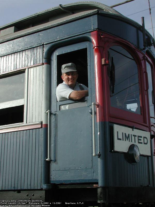 Randy Hicks running CA&E 308, Members' Day 2004
