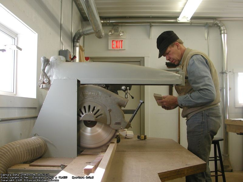 Bob Kutella in shop, 2004