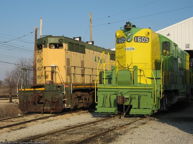 Two GP7's CNW4160 & IT1605 at yard 2
