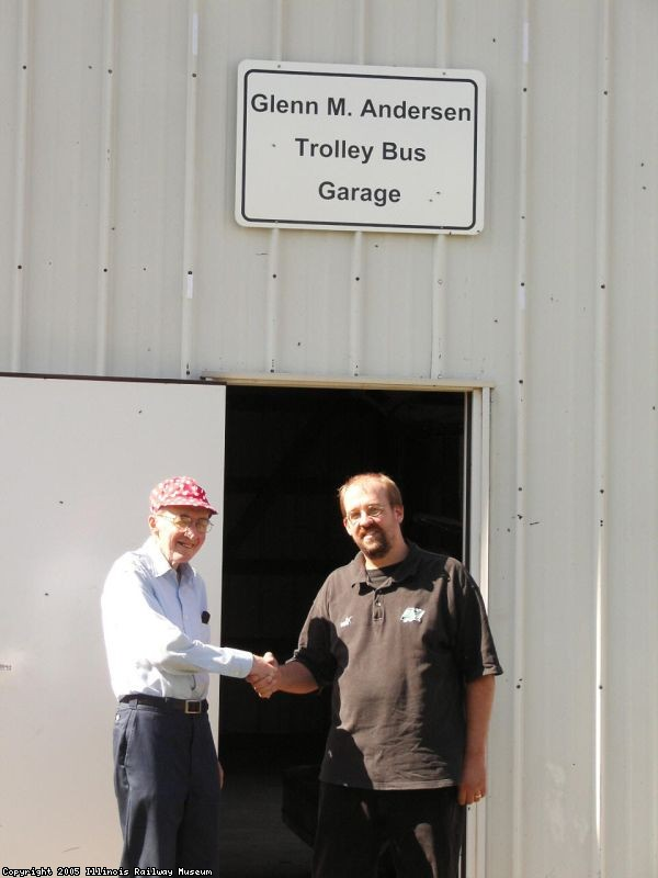 Congratulations Glenn on a lifetime of achievement and service to the Trolley Bus Department (10/01/2005).