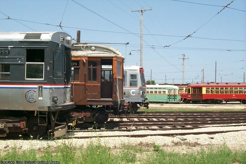 Quite a collection of equipment lineing up for the 4th of July trolley parade in 2002.