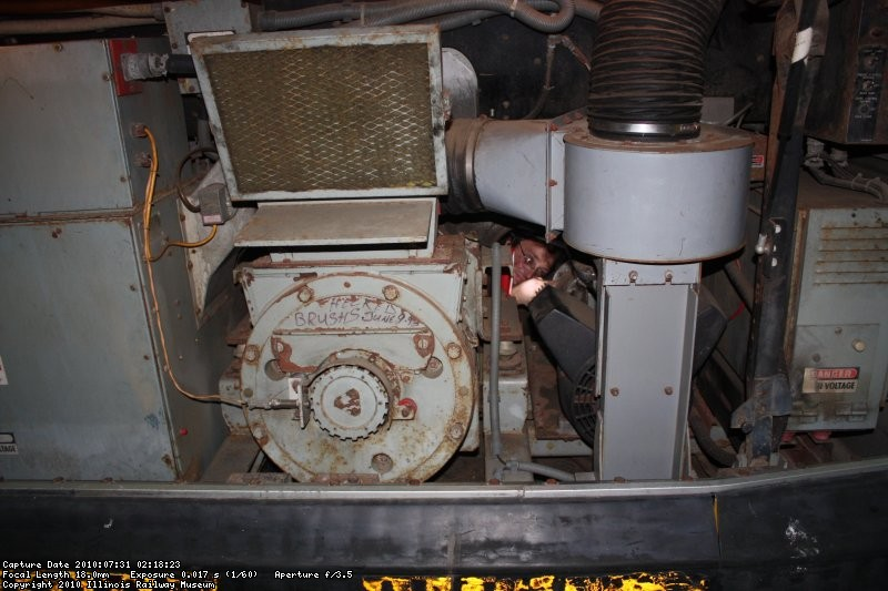 Richard working literally inside the Edmonton 181.  You can barely see him right in the middle of the photo.
