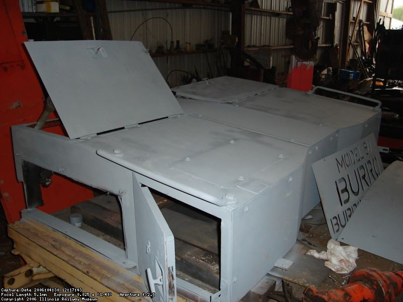 Engine hood in primer
