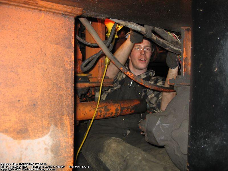 Matt O. does some inspection under Burro
