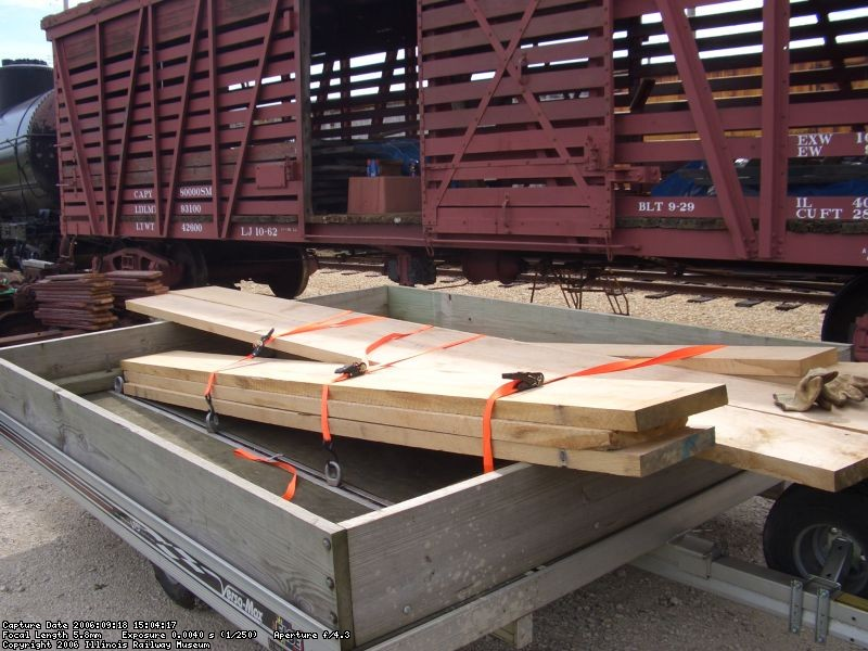 09.21.06 - KIRK WARNER DELIVERS THE OAK RUNNING BOARD MATERIAL WHICH HE PURCHASED FOR THE CAR.