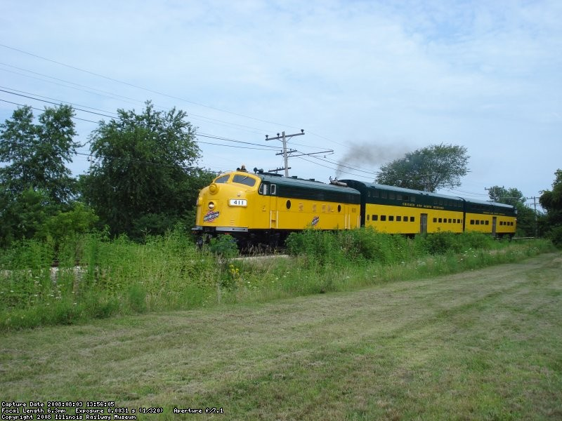 Westbound CNW Commuter Train