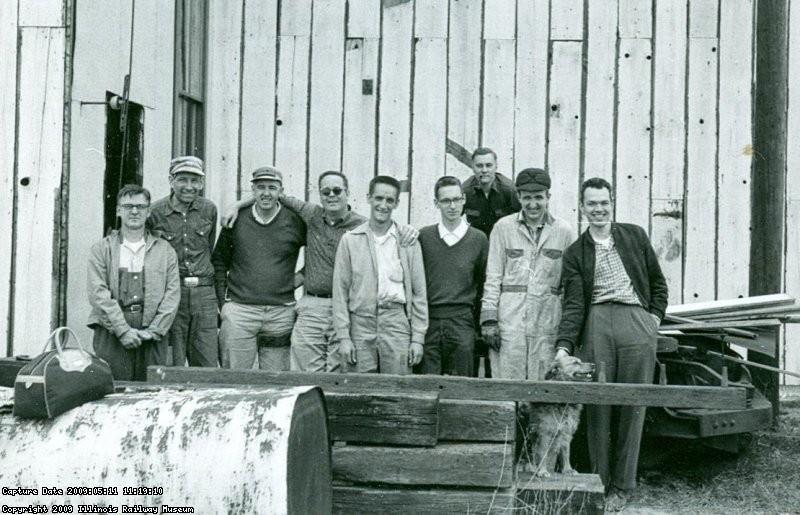 1963 - Ray Neuhaus, Bill McGregor, Bob Gibson (ERHS), George Clark, Bob Rayunec, Ken Stendler, Ed Mizerocki, Glenn Anderson, Bob Bruneau