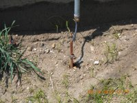 Note that ground wire is bonded to end of conduit