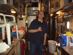 Pauline Trabert helping clean the galley 7/14/13