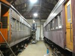 CA&E 451 and CA&E 319, both in the shop for prep and paint.