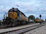 CNW 6847-4160, and CNWs 8646, 8701 and UP 1995 before the Diesel Days event on 7/18/2009