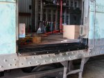 CNW 7700 baggage door frame rebuild autumn 2007