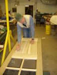 01.07.07 - BOB KUTELLA HAS JUST FINSIHED THE FINAL FITTING ON THE RAISED PANEL INSERTS FOR THE NEW DOORS.