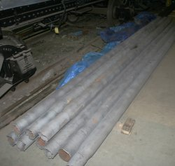 Tubes as recieved back from sand blasting