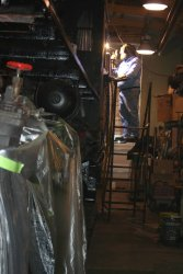 Dennis welds the cab sides