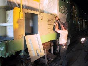 Highlight for Album: Illinois Terminal 1605 restoration work