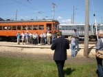 A picture of railfans taking pictures of other railfans...