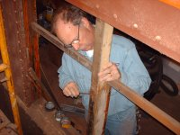 Norm Krental Working on the Window Openings