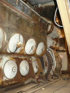 The number 1 engine gets wire wheeled and prepped for primer.