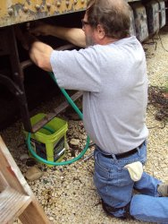 The goal of the hose was to drain enough antifreeze to repair a broken pipe