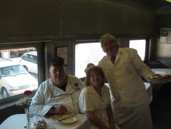The breakfast crew - Michael McCraren, Shelly Vanderschaegen, and Mark Gellman - Photo by Jeff Calendine