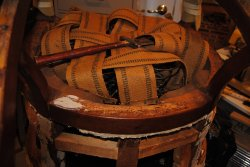 Santa Fe Lounge Car chair stripped down - Photo by Shelly Vanderschaegen