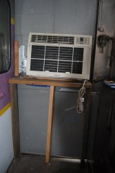 Streamliner car air conditioner as it was - Photo by Shelly Vanderschaegen