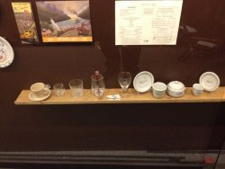 Here is some of the china and glassware that will be on display - Photo by Michael McCraren