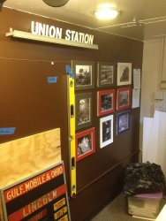 Work on the picture history of Union Station Chicago continues - Photo by Michael McCraren