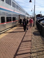 Passengers boarding the Southwest Chief - Photo courtesy of Michael McCraren