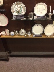 Expanded display of Wabash china - Photo by Michael McCraren