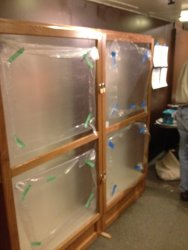 The finished lantern display cases - Photo by Michael McCraren