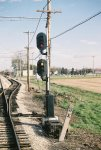 Signal 72 Eastbound West Station Switch. US&S N-2 signals. CNS&M RR