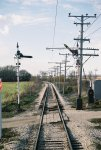 Signals 151 and 152 looking Westbound. GRS 2A Semaphores made left hand. From Joliet, IL, CRI&P RR